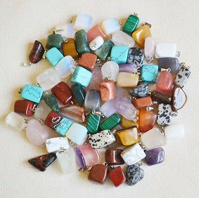 Fashion Assorted mixed Natural Stone Irregular charms Pendants 50pcs Wholesale