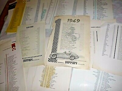 Ferrari Yearbook loose pages(ONLY OUR VICTORIES )1949-51-52-53-54-55-56-58-59-60