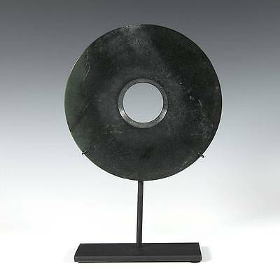 Chinese Archaic-Style Neolithic Hardstone Bi Disc Liangzhu Culture