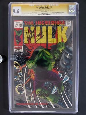 Incredible Hulk #111 -NEAR MINT- CGC 9.6 NM+ Marvel 1969 - Signed Lee & Trimpe!