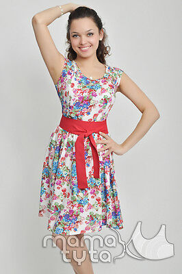 MARTA Nursing Cotton Dress S M 10 12 Floral BNWT Breastfeeding Top