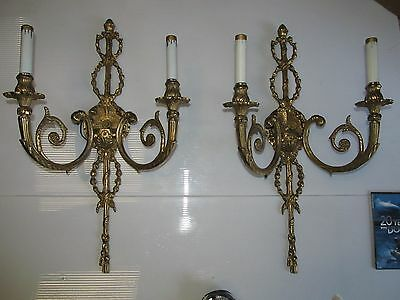 Architectural & Garden Antique Sconces Collectibles Sconces 2- 15Wx26 French