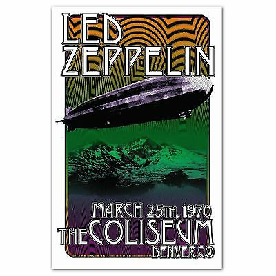 Led Zeppelin Concert Poster 1970 NEW Reproduction 11x17