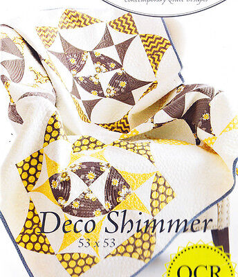Deco Shimmer - fabulous pieced quilt PATTERN - uses Quick Curve Ruler