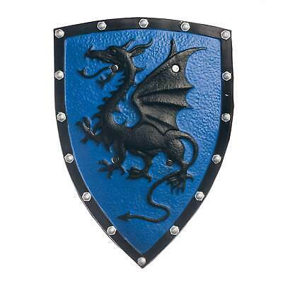 """Men's 21"""" Medieval Dragon Blue Shield Game of Thrones Knight Costume Weapon Prop"""