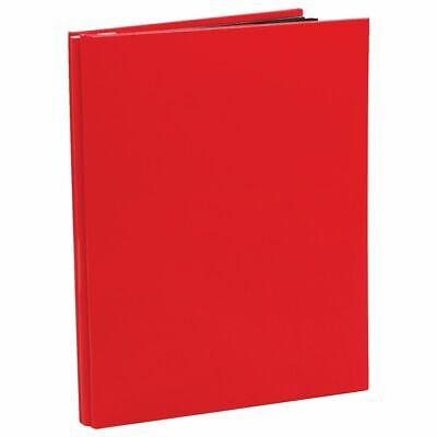 NCL 20 Black Page Refillable Self-Adhesive Photo Album A4 Red