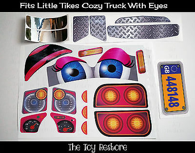 Spare Part Decals Stickers for Little Tikes Cozy Coupe Truck With Eyes UK Girl