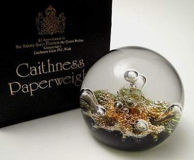 Signed Caithness Scotland Sea Dance Limited Edition Art Glass Paperweight Boxed