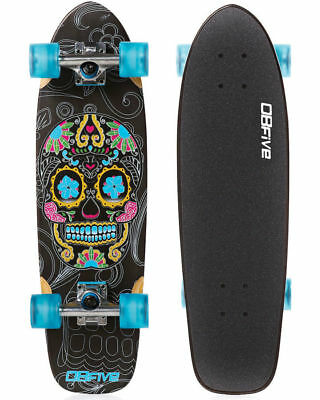 Obfive Day Of The Dead Cruiser Skateboard Complete