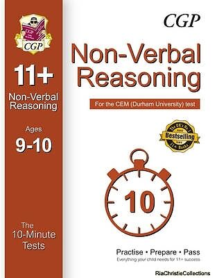 10-Minute Tests for 11 Non-Verbal Reasoning Ages 9-10 - CEM Test CGP Books CGP B