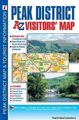 Peak District Visitors Map Geographers A-Z Map Company Sheet map folded New Book