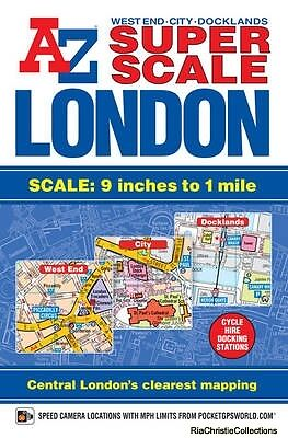 Super Scale London Street Atlas Geographers A-Z Map Company Paperback New Book F