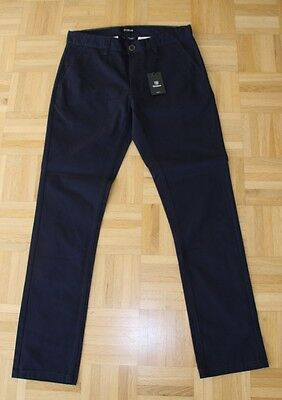 "Brixton Slim Fit Chino Pant ""Grain"", navy, Gr. 32"
