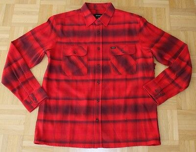 "Brixton Langarm Flanell Hemd ""Archie"", red/burgundy, Gr. M"