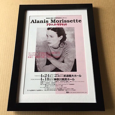 1999 Alanis Morissette JAPAN tour concert flyer /mini poster FRAMED nice photo