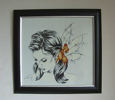 Bo (Heaven and Earth Design) - Finished framed completed Cross Stitch