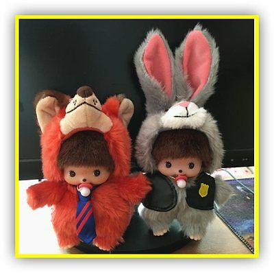 Zootopia Monchhichi Plush Toy Fox Nick Wilde Rabbit Judy Hopps peluche 15 cm