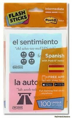 Flashsticks Spanish Intermediate Starter Pack Cards New Book Free UK Delivery