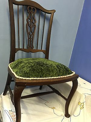 ANTUQUE Edwardian Mahogany   Bedroom Chair Nice Condition  SEEINISIDE