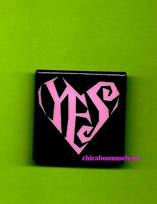 Prince 1988  YES sq pin pinback button badge SOLD ON LOVESEXY TOUR mint