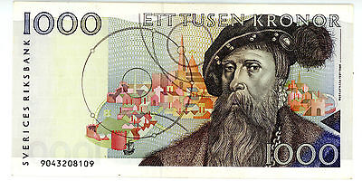Sweden ... P-60a ... 1000 Kronor ... ND(1989) ... *XF+*