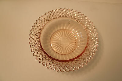 """Anchor Hocking MISS AMERICA PINK  CEREAL BOWL 6 1/2"""""""
