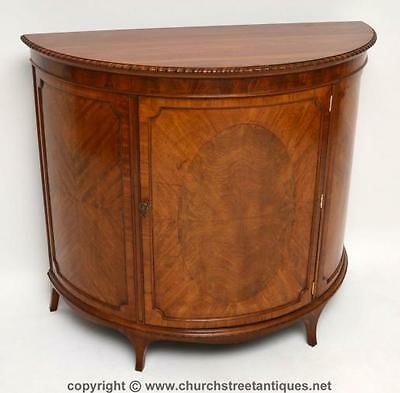 Antique Edwardian Mahogany Curved Fronted Cabinet