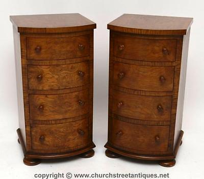Pair Of Antique Victorian Pollard Oak Bedside Chests