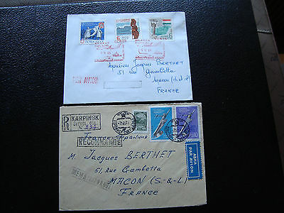 RUSSIE - 2 enveloppes (cy87) russian