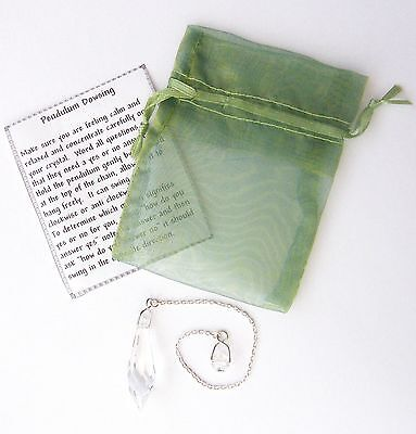 Lead Crystal Dowsing Pendulum with FREE Green Organza Pouch