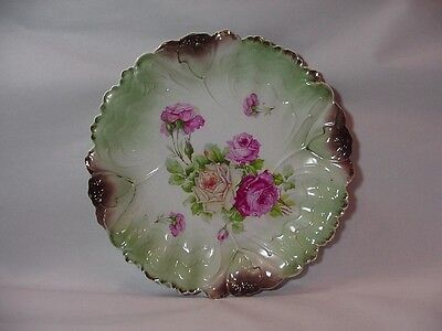 Ilmenau JPF / IPF Porcelain Germany Large Platter / Bowl - Pink & Yellow Roses