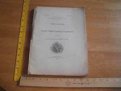 Forest Conditions of The Olympic Forest Reserve 1902 US Geological Survey
