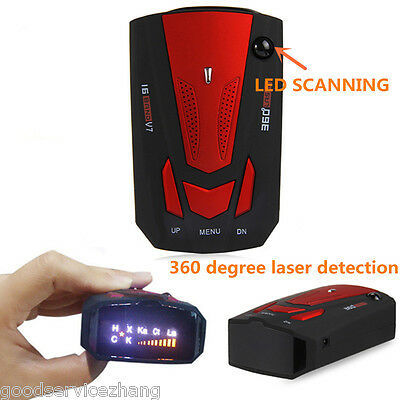 NEW Cobra V7 High Performance 16 Band Radar Laser Detector English Russian Voice
