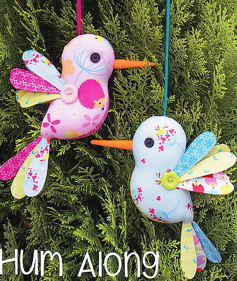 PATTERN - Hum Along - fun softie bird toy or decoration PATTERN - Melly & Me