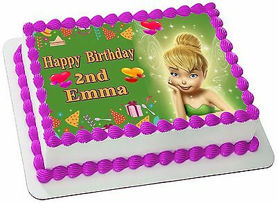 Tinkerbell  Real Edible Icing  Cake Topper Party Image Frosting Sheet