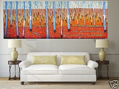 huge art painting outback landscape 210cm authentic By Jane COA