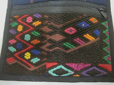 Guatemalan Sm Purse /Passport Wallet Strap Needlepoint Inlay Geometric Diamond
