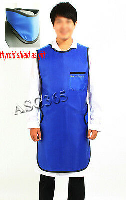 0.35mmPb X-Ray Protection Apron Protective Lead Vest Cover Thyroid Shield S Size
