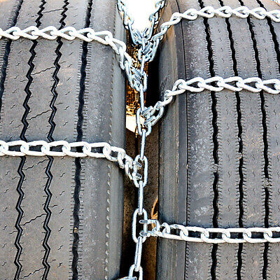 Titan Truck Tire Chains Dual/Triple On Road Snow/Ice 5.5mm 245/70-19.5