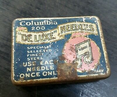 Vintage Columbia 200  Deluxe Needles Tin With Needles