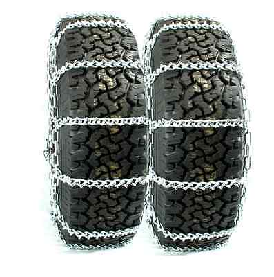 Titan Truck V-Bar Link Tire Chains Dual On Road Ice/Snow 7mm 11-24.5