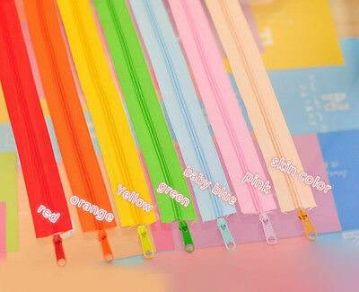 1M Colorful Nylon Coil Zippers Tailor Pillow Cushion Quilt Sewing Craft 22 Color