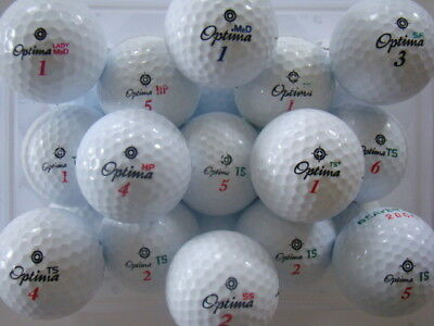 50 Mixed Optima Golf Balls In Mint/a Grade Condition!!