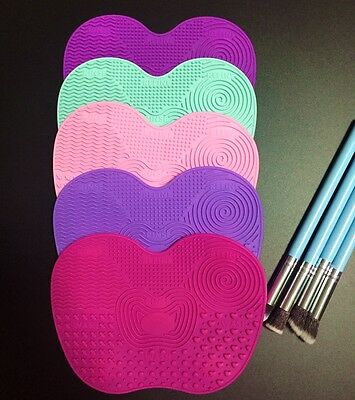 5suckers Makeup Brush Silicone Washing Scrubber Cleaning Mat Pad Tool