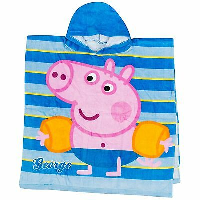 Peppa Pig George Poncho Towel With Hood For Beach Or Bath Fun New With Tags