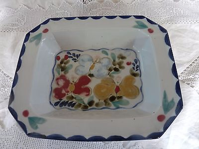 Highland Stoneware Floral Rectangular Dish/Ashet  32cm x 27cm approx. REDUCED!