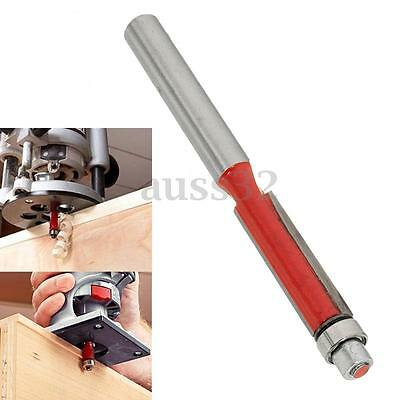1/4'' End Dual Flute Wood Edge Flush Trim Router Bit Bearing Cutter Cut Tool Red