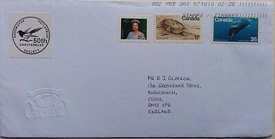Canada Cover With Goodmayes Philatelic Society Anniversary Magpie Label
