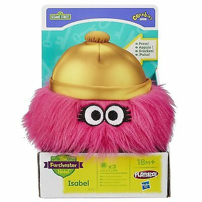 Sesame Street Furchester Hotel Isabel Ringing Ding Bell Soft Toy NEW Boxed