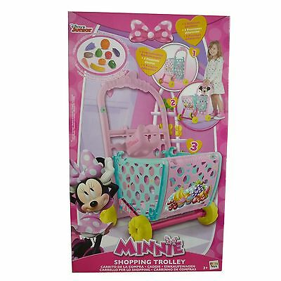 Disney Minnie Mouse 3 Way Shopping Trolley Toy Inc Food Accessories New Boxed